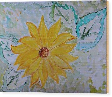 Star Flower Wood Print by Sonali Gangane