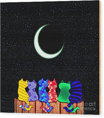 Star Gazers Wood Print