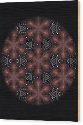 Star Octopus Mandala Wood Print by Karen Buford