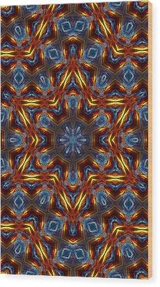 Star Of David Wood Print by Lilia D