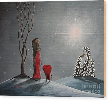 Star Of Hope By Shawna Erback Wood Print by Shawna Erback