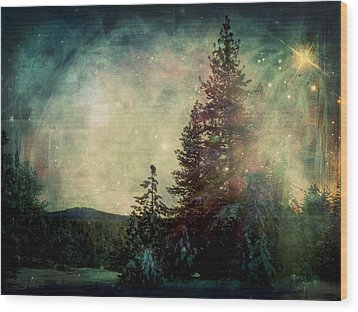 Star Of Solstice Wood Print