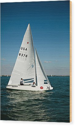 Star Sailboat Wood Print