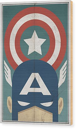 Star-spangled Avenger Wood Print by Michael Myers