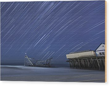 Star Spangled Wood Print by Mike Orso
