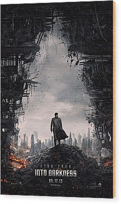 Star Trek Into Darkness  Wood Print by Movie Poster Prints