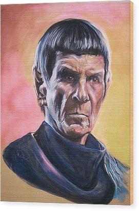 Star Trek Old Spock  Wood Print by Martha Suhocke