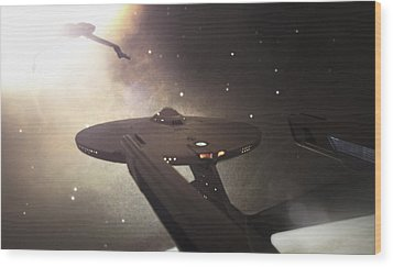 Star Trek Standoff Wood Print by Jason Politte