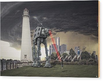Wood Print featuring the photograph Star Wars All Terrain Armored Transport by Nicholas  Grunas