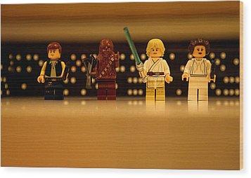 Star Wars Heros Wood Print