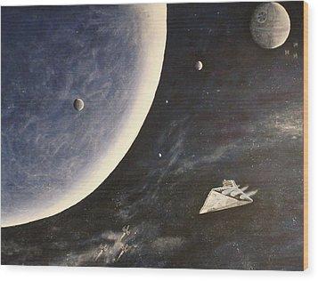 Star Wars Mural Wood Print