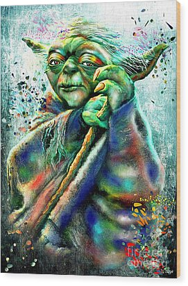 Star Wars Yoda Wood Print