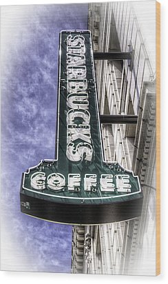 Starbucks - Ballard Wood Print by Spencer McDonald