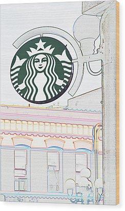 Starbucks Wood Print