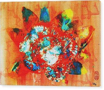 Starburst Nebula Wood Print by Roberto Prusso