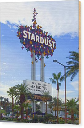 Stardust Sign Wood Print by Mike McGlothlen