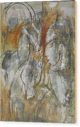 Stare Wood Print by Floria Varnoos