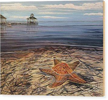 Starfish Drifting Wood Print