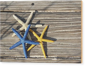 Wood Print featuring the photograph Starfish by Elizabeth Budd