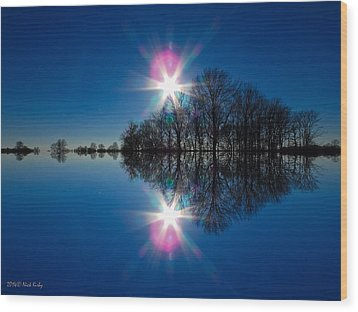 Starflection Wood Print