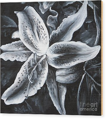 Stargazer Lilly Wood Print