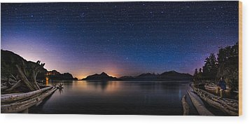 Stargazing Wood Print by Alexis Birkill