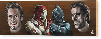 Stark Industries Vs Wayne Enterprises Wood Print by Vinny John Usuriello