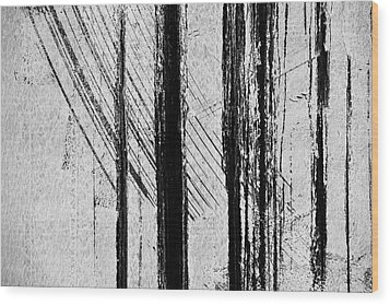 Starlight Behind The Trees Wood Print by KM Corcoran