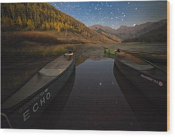 Starlight Discovery At Piney Lake Wood Print by Mike Berenson