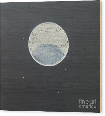Wood Print featuring the painting Starlight by Mini Arora