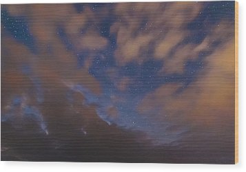Wood Print featuring the photograph Starlight Skyscape by Marty Saccone