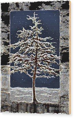 Starlight Wood Print by Ursula Freer