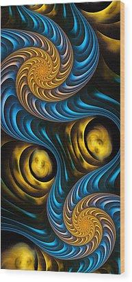 Starry Night - Fractal Art Wood Print by Anastasiya Malakhova