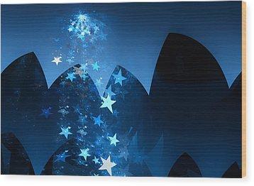 Wood Print featuring the digital art Starry Night by GJ Blackman