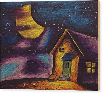 Starry Night Wood Print by Salman Ravish
