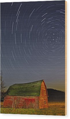 Starry Night Wood Print by Susan Candelario