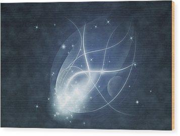 Starry Night Wood Print by Susan Leggett