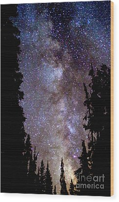 Starry Night -  The Milky Way Wood Print by Douglas Taylor