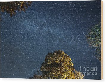 Wood Print featuring the photograph Starry Skies by Martin Konopacki