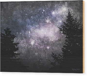 Starry Starry Night Wood Print by Cynthia Lassiter