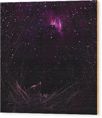 Starry Starry Night Wood Print by Rachel Christine Nowicki