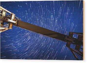 Stars Above Wood Print by Alexis Birkill
