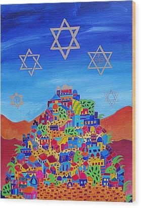 Stars Above Jerusalem Wood Print
