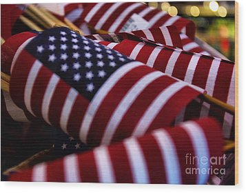 Wood Print featuring the photograph Stars And Stripes by John S