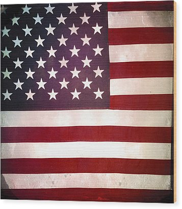 Stars And Stripes Wood Print by Les Cunliffe