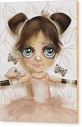 Stars In Her Eyes Wood Print by Karin Taylor