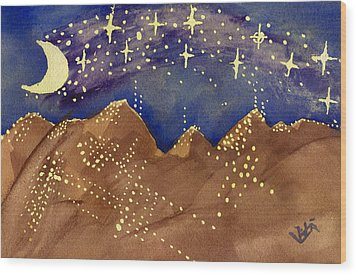 Stars Of Heaven And Earth Wood Print
