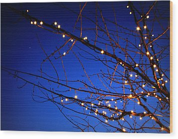 Wood Print featuring the photograph Stars On Branches by Aurelio Zucco