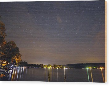 Stars Over Conesus Wood Print
