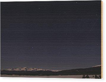 Stars Over Sawatch Wood Print